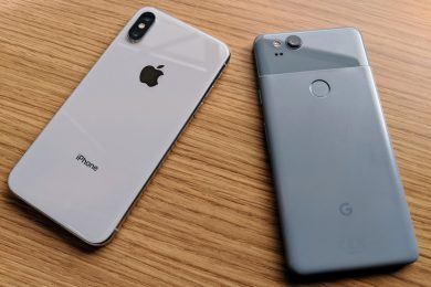 iphone pixel blue